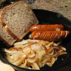 Grilled Sausages with Caramelized Onions and Apples