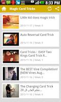 Screenshot of Magic Card Tricks
