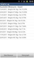 Screenshot of BodyFat Log