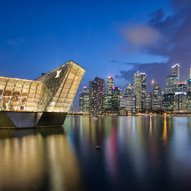 Louis Vuitton and the Singapore Skyline by Carol Kheng - Buildings & Architecture Architectural Detail ( #singaporeskyline, #singapore, #louisvuitton )
