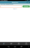 Screenshot of Signing Savvy Member App