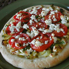 Leek, Tomato, Goat Cheese Pizza
