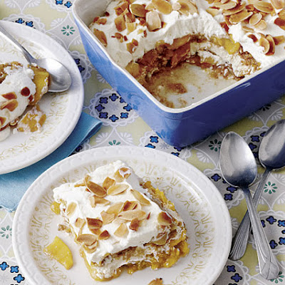 Peach-Almond Icebox Cake