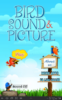 Screenshot of Bird Sound and Picture