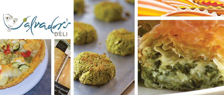 Spanish Frittata, Italian Artisan Tongue Biscuits, Healthy Baked Falafel, Multi-coloured Lingua di Suocera Pasta, Greek Spanakopita