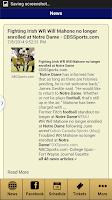 Screenshot of Notre Dame Football