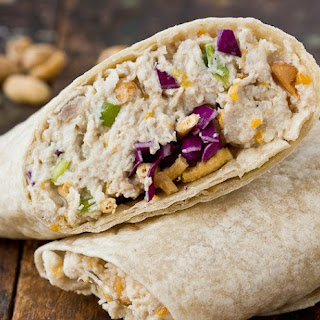 Cashew Chicken Salad Wraps