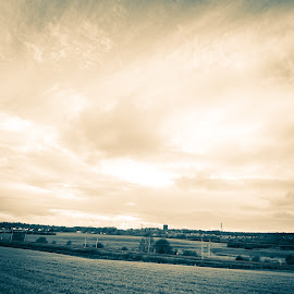 Big Skies by Jamie Barlow - Landscapes Prairies, Meadows & Fields ( wide angle, landscape, fields )