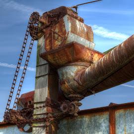Conveyor by Calvin Morgan - Transportation Other ( hdr, farm equiptment, conveyor, rust, nikon d7000 )