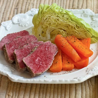 Corned Beef with Veggies and Horseradish Sauce
