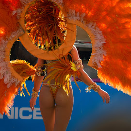 Its Carnival by Victor Eliu - City,  Street & Park  Street Scenes ( silhuette, carnival, nice, france, street photography )