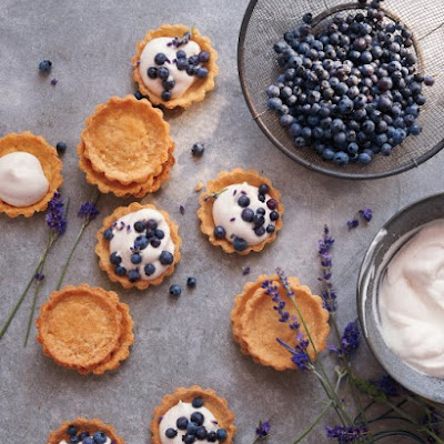 Mini Blueberry-Lavender Cornmeal Cream Tarts