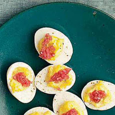 Deviled Eggs with Pickled Red Onions