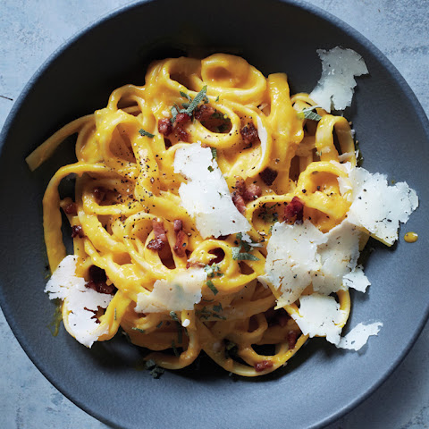 Winter Squash Carbonara with Pancetta and Sage