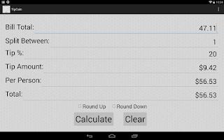 Screenshot of Tip Calc
