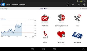 Screenshot of Stock Market