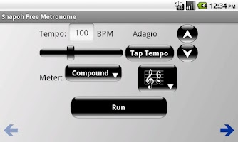 Screenshot of Snapoh Free Metronome