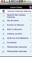 Screenshot of Carver County Library Mobile