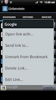 Screenshot of Linkenstein: Bookmark Manager