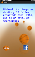 Screenshot of TriviBasket juego de  basket