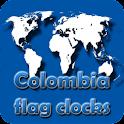 Colombia flag clocks icon