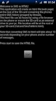 Screenshot of SMS to HTML