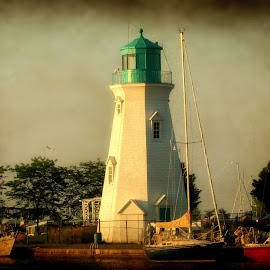Lighthouse by Sue McNulty - Buildings & Architecture Public & Historical ( building, waterscape, lighthouse, boat, nautical )