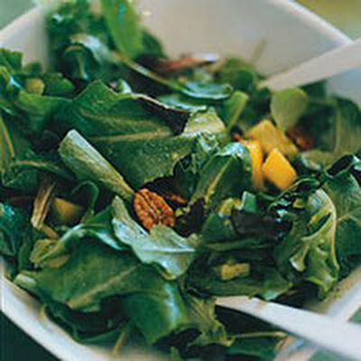Mango and Avocado Salad with Spiced Candied Pecans