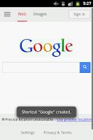 Screenshot of Shortcut To URL