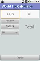 Screenshot of World Tip Calculator