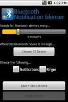 Screenshot of BT Notification Silencer