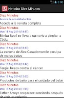 Screenshot of Widget de revista Diez Minutos