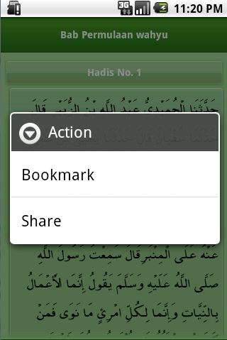 Screenshot #10 of Shahih Bukhari Indonesia / Android