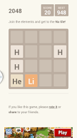Screenshot of 2048 chemistry