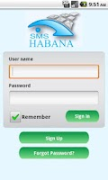 Screenshot of SMS Habana