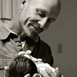 Safe Hands by Mackenzie Duquette - Babies & Children Babies ( love, calm, joyful, safety, hands, baby, handsome )