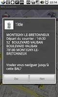 Screenshot of France Mailbox Location