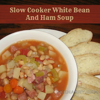 "Slow Cooker White Bean and Ham Soup aka ""Blizzard Soup"""