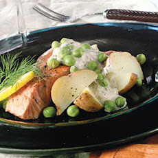 Salmon-Potato Salad With Lemon-Dill Dressing