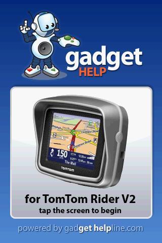 TomTom Rider V2 - Gadget Help