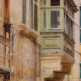 Balconies  by Miranda Luyckx - Buildings & Architecture Homes ( shoftcolours, balconies, malte, cruise )