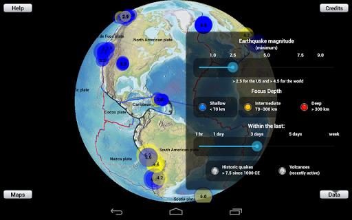 Earthquake Finder - screenshot
