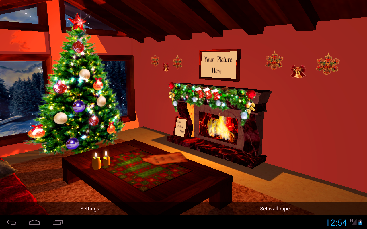 3D Christmas Fireplace HD Full Screenshot 18