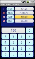 Screenshot of Multi Currency Calculator