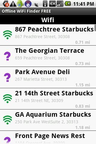 offline-wifi-finder-free for android screenshot