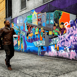 Grafitti Mania by Ferdinand Ludo - People Street & Candids ( manhattan streets, filled with wall graffiti and miurals )