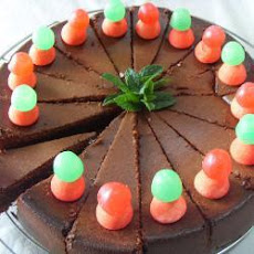 Chocolate Cake With Strawberry And Mint