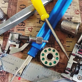 Tools of the Trade by Marilyn Bass - Artistic Objects Other Objects ( sewing machines, sew, sewing, arkansas photographer, bobbins, seam ripper, bobbin, sews, seam rippers, sewing machine, arkansas )