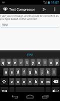 Screenshot of Text Compressor