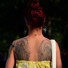 Wings by Snežana Lukić - People Body Art/Tattoos ( woman, wings, tatoo,  )